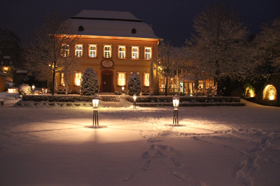 Schloss Vollrads im Winter.